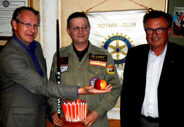 Peter O. Stecher was honored to join the Rotary Club in Oberpullendorf, Austria. Dr. Lambert Gneisz, Peter O. Stecher Mag. Adalbert Reidinger, Rotarier Oberpullendorf, 2015.