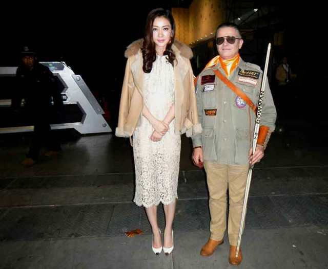 Supermodel and actress Lynn Hung and Bowman Peter O. Stecher, Nanjing, China, Mission Impossible Show, 2015. Photo by Heinz Hoffmann