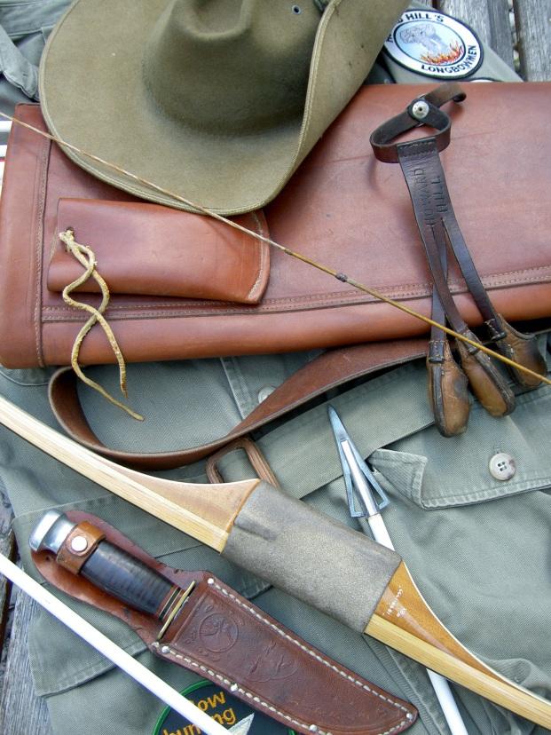 Howard Hill style Archery Equipment -> still best around! Foto by Peter O. Stecher