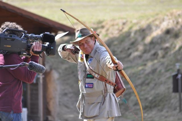 Byron Ferguson, on film set for the German Pro 7 channel, in Semriach, Austria. Foto by Herwig Art.