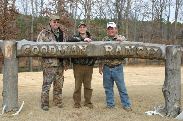 Mike Goodmann, Peter O. Stecher, Byron Ferguson at the Goodmann Ranch