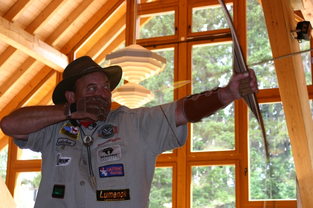 Byron Ferguson using Bearpaw Archery equipment. Photo by Peter O. Stecher 2011