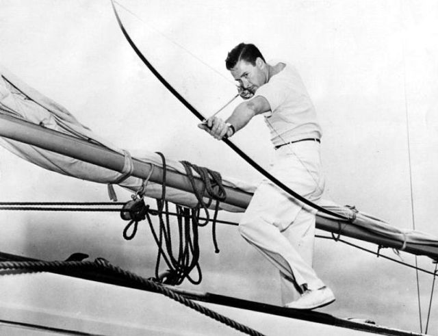 """Errol Flynns yacht, the """"Zaca"""", a piece of archery history?"""