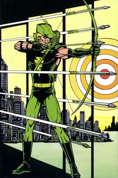 "Mike Grell's legendary ""Green Archer's"" boxing glove arrows reloaded"
