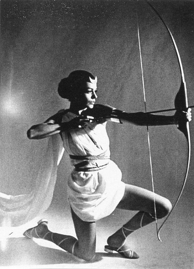 Top-Model Katarina Noever als Diana, 1963/64. Foto & Copyright WienMuseum.