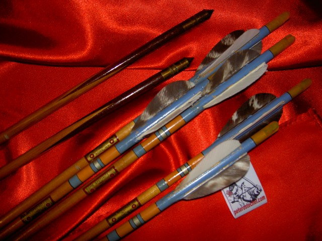 """High quality, vintage, rosewood footed, target style arrows, branded: """"Rome Speciality Co. Inc., Rome, N.Y."""