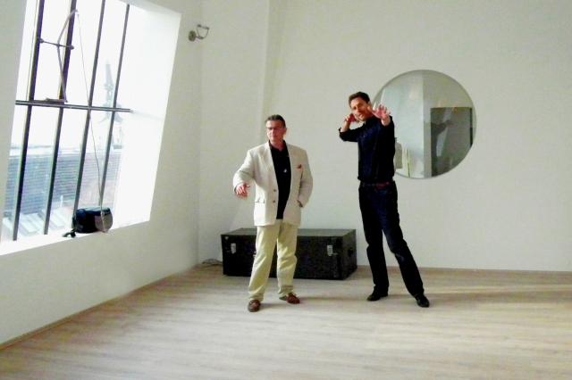 Fotoshooting mit Tanja Baumgartner im Arco Vienna Club, Peter O. Stecher, Mag. Andreas Wedenig