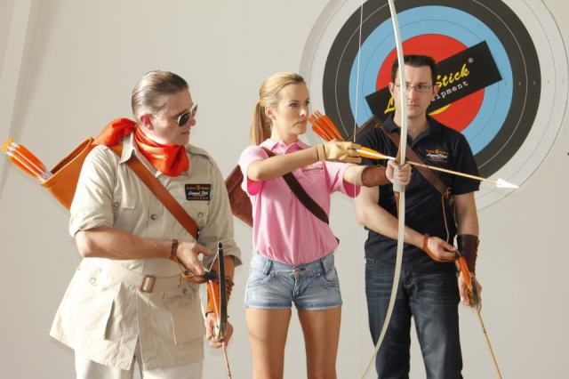 Archery coaching Tanja Baumgartner, Dietmar Szarka im Arco Vienna Club.