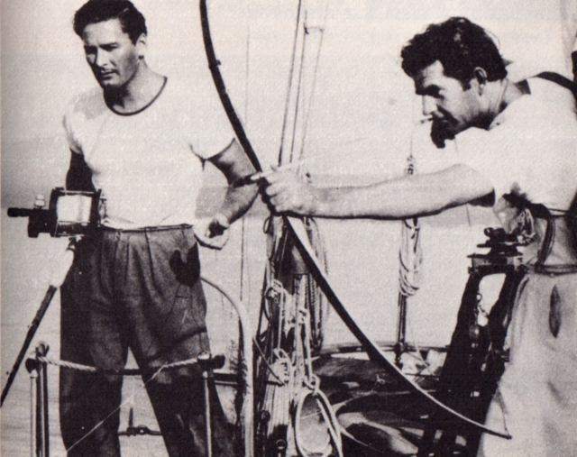 Howard Hill and Errol Flynn