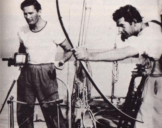Howard Hill and Errol Flynn