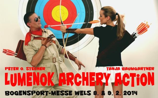 Lumenok-Action-Shooting-Show auf der Bogensport-Messe Wels