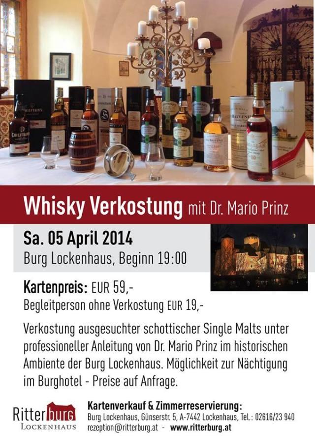 Whisky-Verkostung mit Dr. Mario Prinz - Burg Lockenhaus 2014