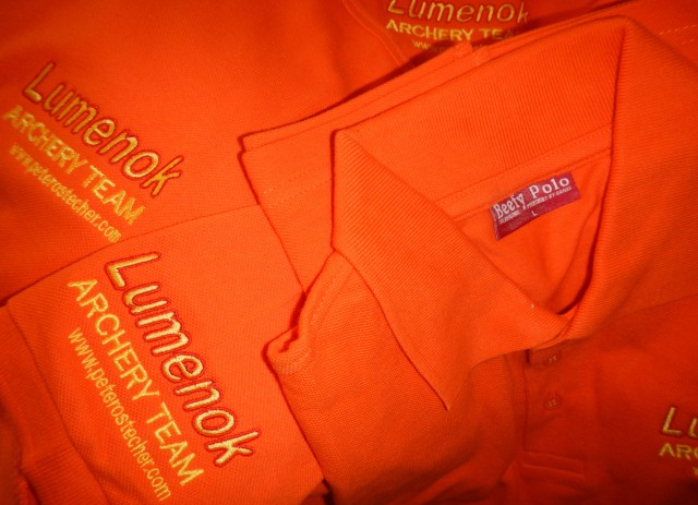 Magic Orange Austrian LUMENOK Archery Team Poloshirts