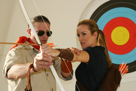 Classic Archery Coaching Lumenok Girl Tanja Baumgartner- Bogenschießen mit Peter O. Stecher, Photo by Rudi Pilz, 2012