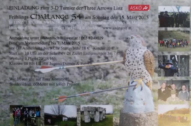 """Crazy Archer Otto unfolds: """"Bitte keine Fotos von geschützten Tieren mit Pfeilen drin......Three Arrows Linz 2015"""""""