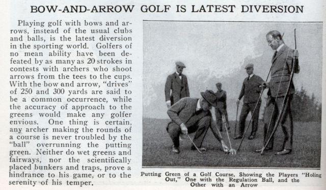 Archery Golf, a classic sport since the 1920ies.