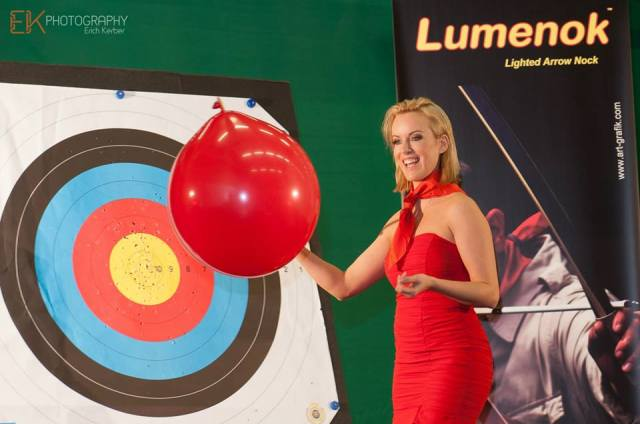 Special Guest at the BAYERN-BOW - Lumenok-Girl Tanja Baumgartner!