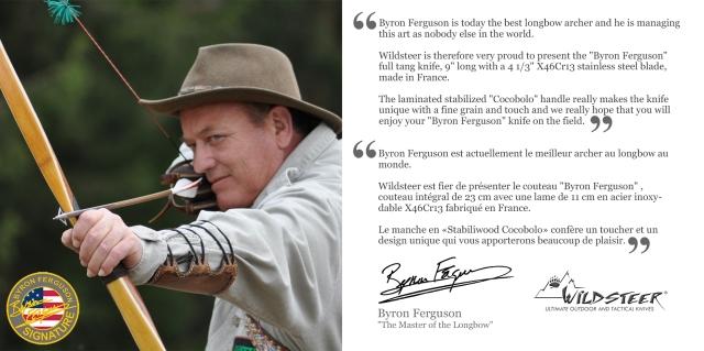 The brandnew Byron Ferguson Signature Knife by Wildsteer, France!