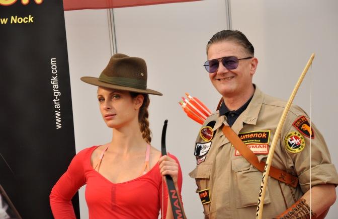 Model Lany Ann auf der Niederbayern Schau mit dem neuen Byron Ferguson Signature Hut von Hutmacher Zapf. Foto, Herwig Art, 2015.