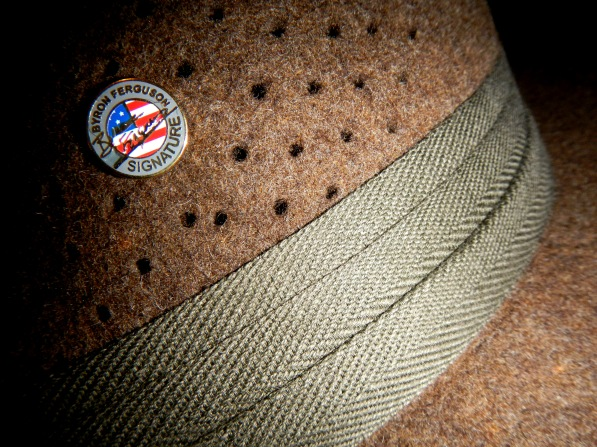 "The official ""Byron Ferguson Signature Hat"" - a functional & classic style hunting hat - traditionally hand made by Hutmacher Zapf, Austria."