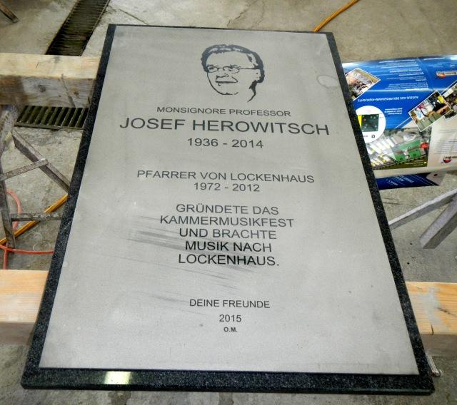 Monsignore Josef Herowitsch Denkmal Lockenhaus, 2015.