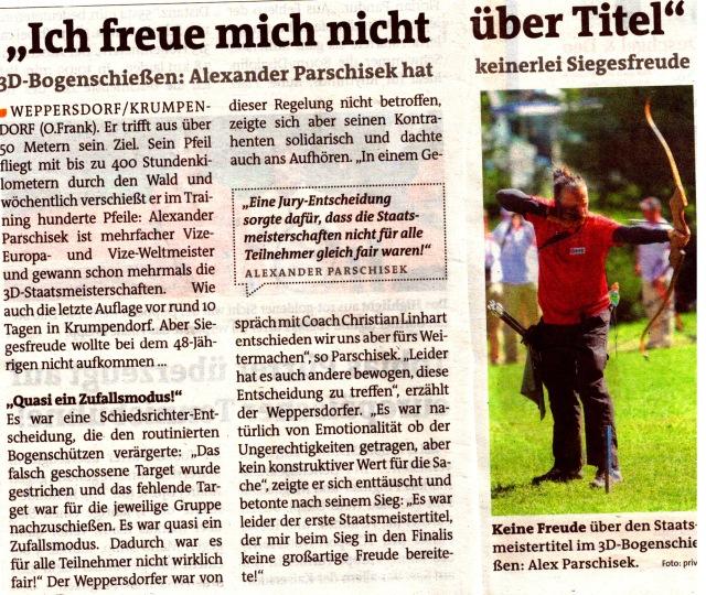 Unklare Reglements im österreichischen 3D-Bogensport? Quelle: Bezirksblätter