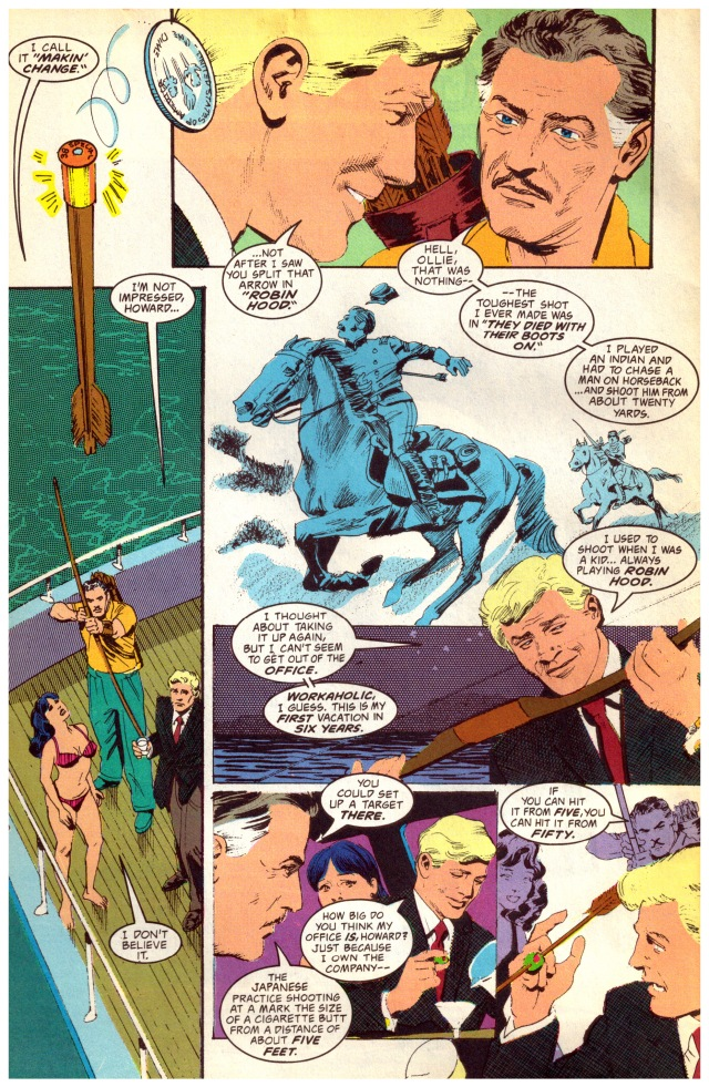 "Mr. Howard Hill appeared in person in the =DC= No. 1, 1993 February issue, Green Arrow, ""The Wonder Year"" by Mike Grell"