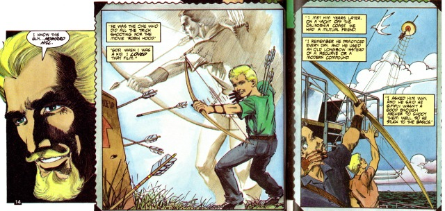 "In Green Arrow ""The Longbow Hunters"" by Mike Grell, Book One: ""The Hunters"", 1987"