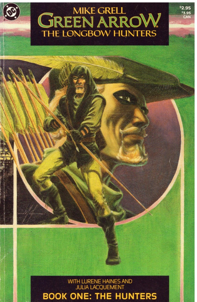 """In Green Arrow """"The Longbow Hunters"""" by Mike Grell, Book One: """"The Hunters"""", 1987"""