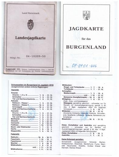 Jagdschein - Jagdprüfung - Jagdkarte
