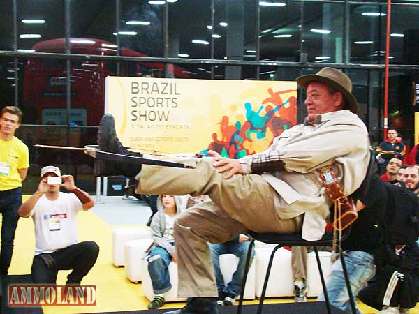 "Brazil - July 2012 - Byron Ferguson Exhibition wins award for ""Most Attended"" event at the Brazil Sport Show - Sao Paulo"