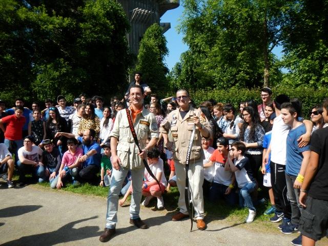 Bogenschießen - Lag BaOmer Augartenpark Wien, mit Shneor Zalman Raskin und Dietmar Szarka