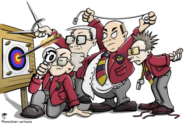 Moschner Cartoons, Bogensport