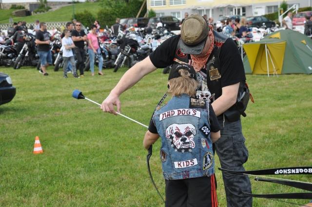 Motorized Cavalry Archery beim Motorradtreffen der Mad Dogs Austria in Wiesfleck 2017, Foto Herwig Art